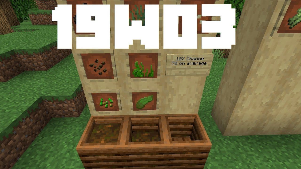 Minecraft News 19w03 The Composter You
