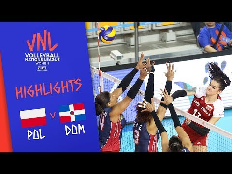 POLAND vs. DOMINICAN REPUBLIC - Highlights Women | Week 5 | Volleyball Nations League 2019