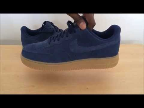 nike air force 1 low mids blue suede review youtube