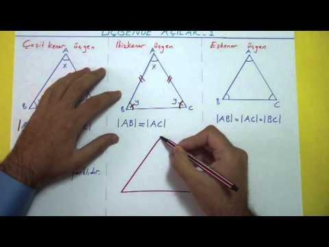 Üçgende Açılar 1 Şenol Hoca Matematik