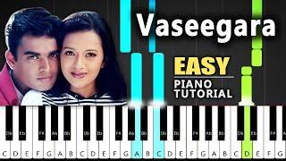 Vaseegara Easy Piano Tutorial With Notes - Minnale    Blacktunes Piano