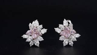 #JCEF05363373# 2.21CT Pink Diamond Earrings Asteria