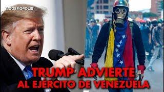 NOTICIA DE ÚLTIMA HORA TRUMP ADVIERTE AL EJÉR... DE VENEZUELA QUE DEJE A MADURO