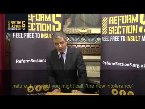 Rowan Atkinson on England and Freedom of Speech