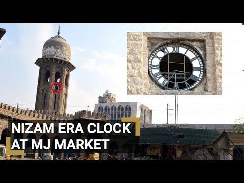 Nizam era clocks at Moazam Jahi Market gasps for attention since 6 years