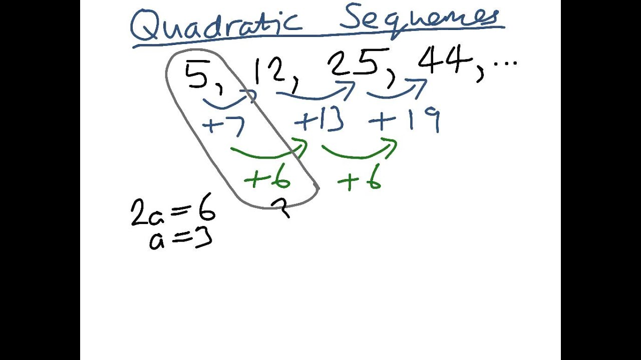 The n th term of a quadratic sequence youtube robcynllc Image collections