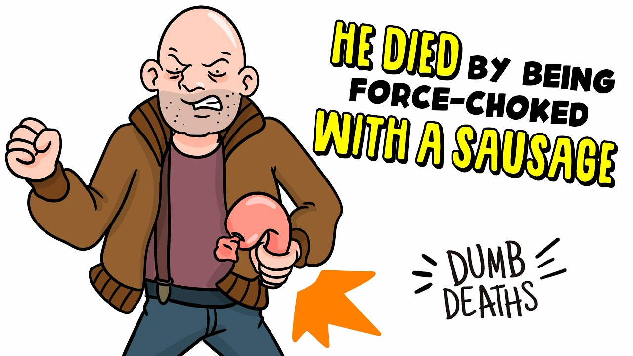 He died by being force-choked with a sausage 🌭 Dumb Deaths   My Life Sucks