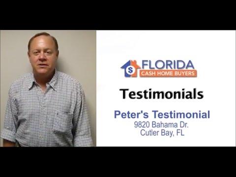 Florida Cash Home Buyers - Testimonial - Peter Nitellis