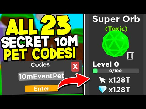 All 23 SECRET FREE 10M PET CODES In Tapping Legends! Roblox