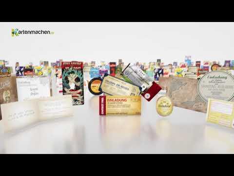 Video: Kartenmachen.de - Individuelle Einladungskarten zu GEBURTSTAG und HOCHZEIT!