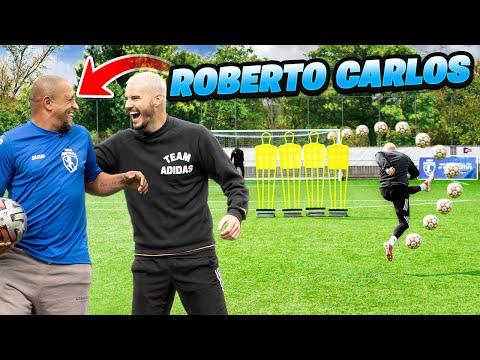 ROBERTO CARLOS TEACHES ME HIS INSANE FREE KICK! 😱💫☄️ Thumbnail