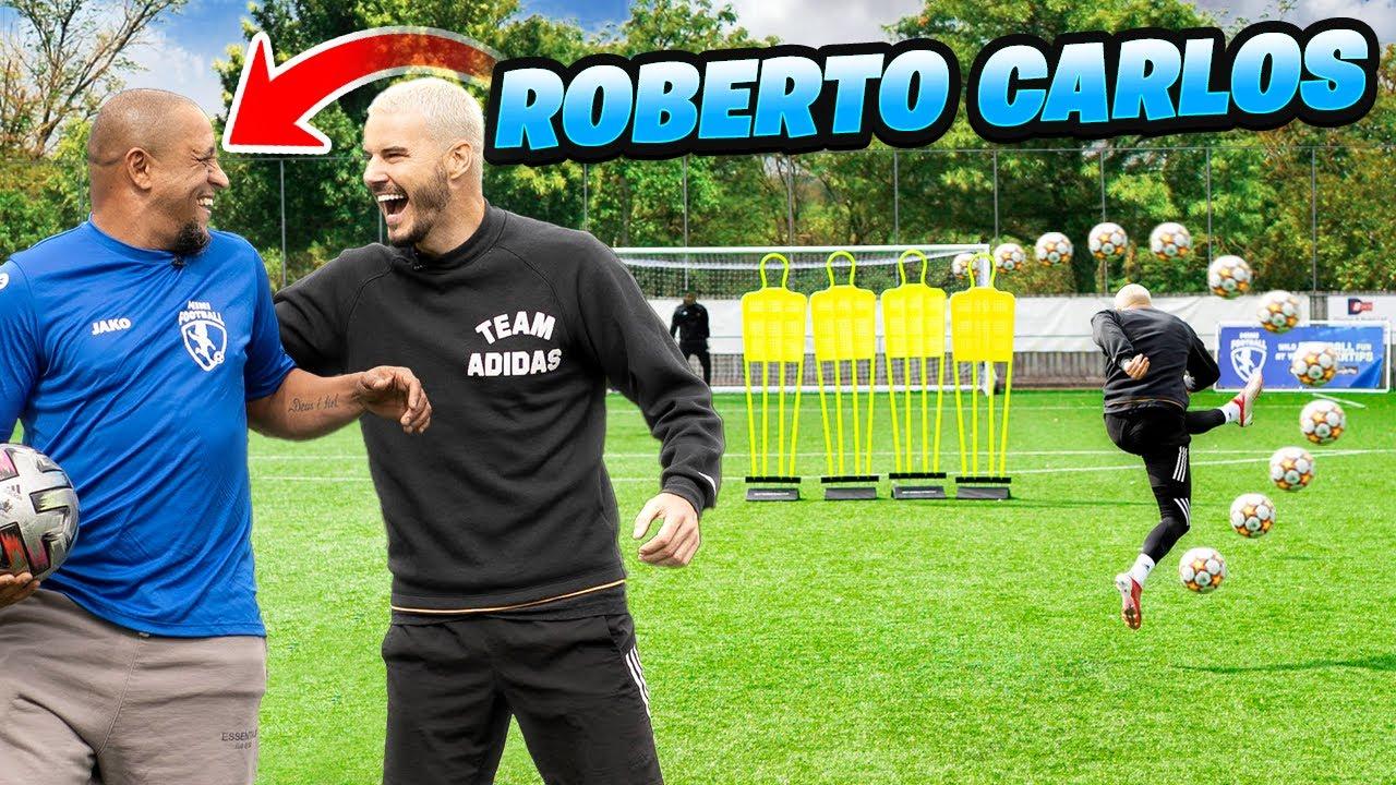 Download ROBERTO CARLOS TEACHES ME HIS INSANE FREE KICK! 😱💫☄️