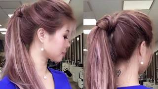 How to tie your hair in a pony tail