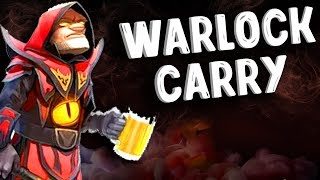 ВАРЛОК КЕРИ VS 5K MMR MEEPO - WARLOCK CARRY DOTA 2