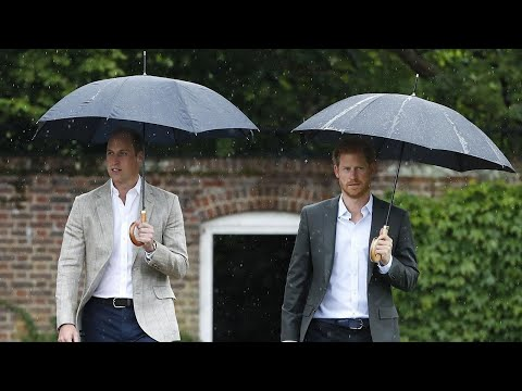 Prince William and Prince Harry Visit Memorial Garden on Eve of Late Princess Diana's Death