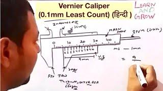 Vernier Caliper (0.1mm Least Count) (हिन्दी )