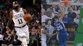 Masked Kyrie Irving 36 Pts! Ben Simmons Reverse Put Back! 76ers vs Celtics 2017-18 Season