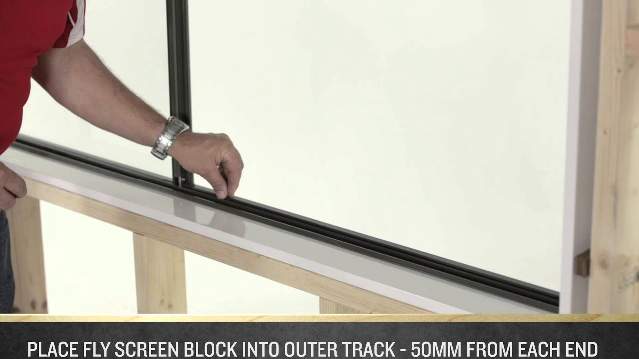 How to Install a Fly Screen on an A&L Sliding Window - YouTube