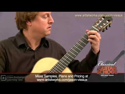 Classical Guitar Lessons: Sor - D Major Etude #6