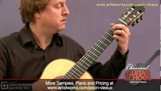 Classical Guitar Lessons: Sor - D Major Etude #6