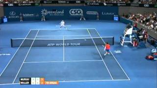 Andy Murray v Gilles Muller Highlights Men's Singles Rd 2: Brisbane International 2012