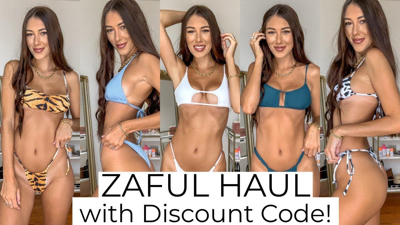 ZAFUL BIKINI HAUL TRY ON W DISCOUNT CODE!! JULY SUMMER 2020