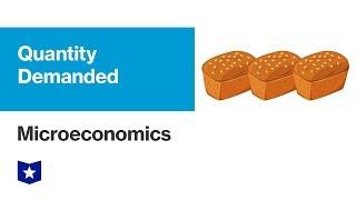 Quantity Demanded | Microeconomics