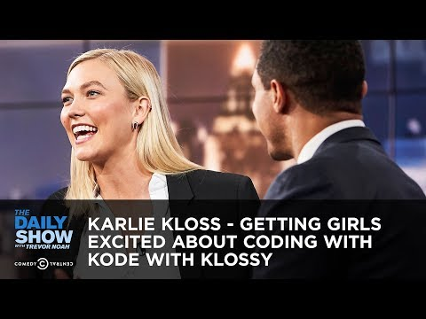 Karlie Kloss - Getting Girls Excited About Coding With Kode With Klossy   The Daily Show