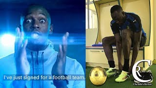 Usain Bolt Just Got Signed To A Football Team | History In The Making 2018