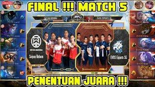 Siapakah yang Juara ?? Saiyan Reborn vs Evos SG Grand Final Match 5 MPL MY/SG Season 2
