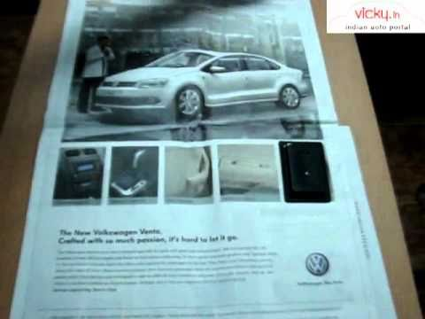 Volkswagen Vento Talking NewsPaper in Hindu and Times of India - YouTube