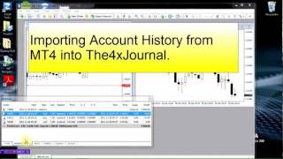 Importing Trade Data from MetaTrader 4 - MT4 into The4xJournal - Forex Journal Software