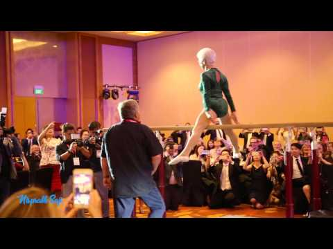 92 year old Johanna Quaas performing on parallel bars