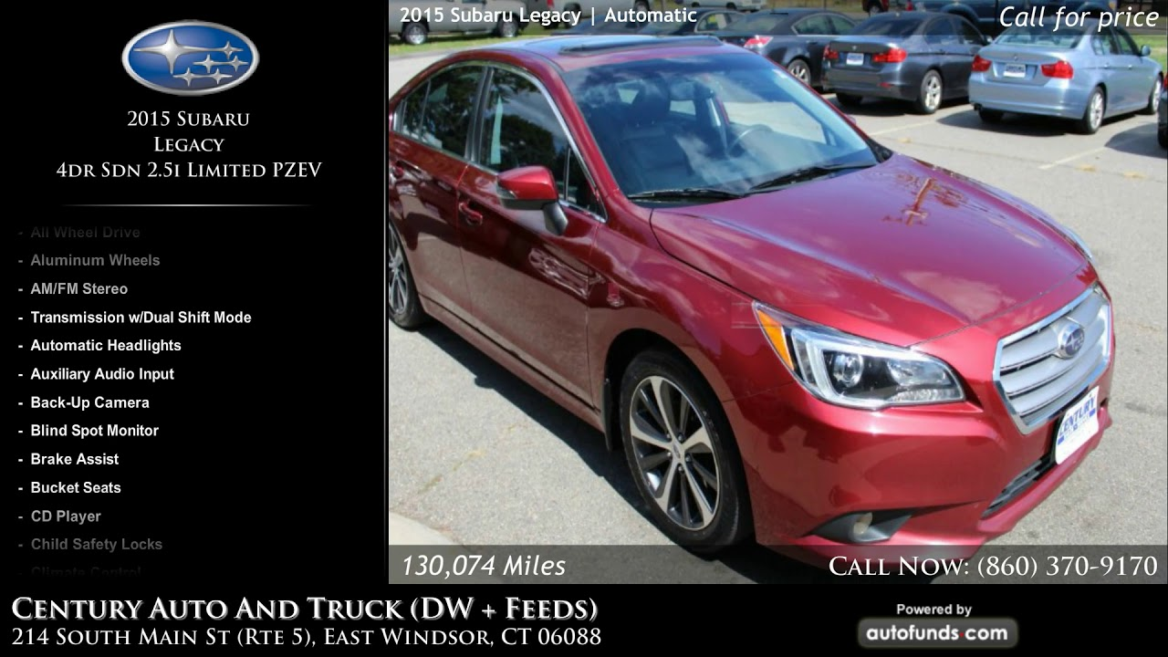 Used 2015 Subaru Legacy   Century Auto And Truck (DW + Feeds), East  Windsor, CT