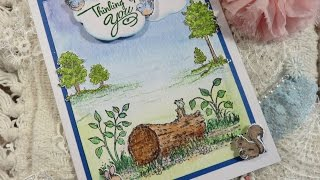 How to Tutorial Heartfelt Creations Woodsy Wonderland Water Color Card