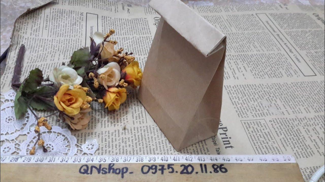 Video 7: Hướng dẫn gấp túi giấy đựng quà