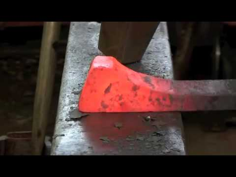 Blacksmithing - Upset and cut heel tenon
