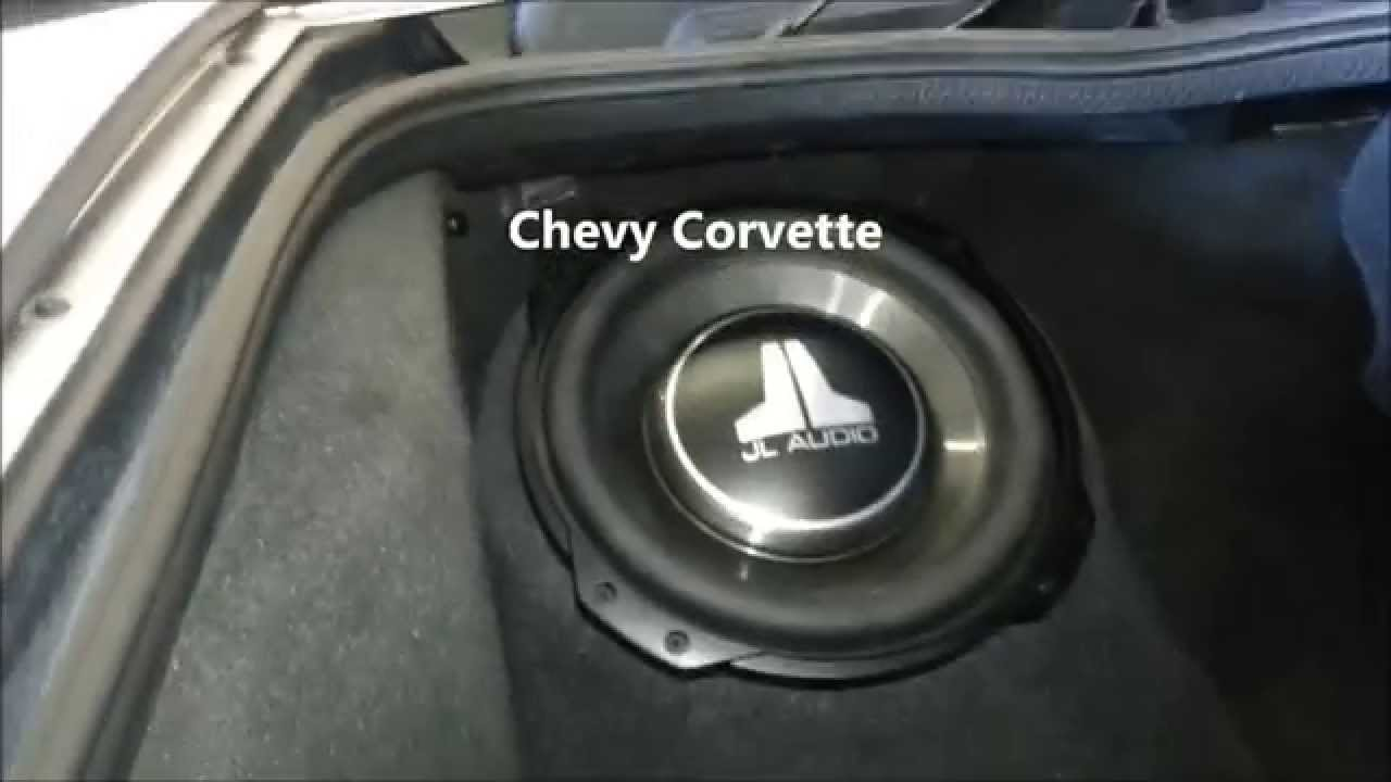 Chevy Corvette Custom Fiberglass Box and Focal Speakers
