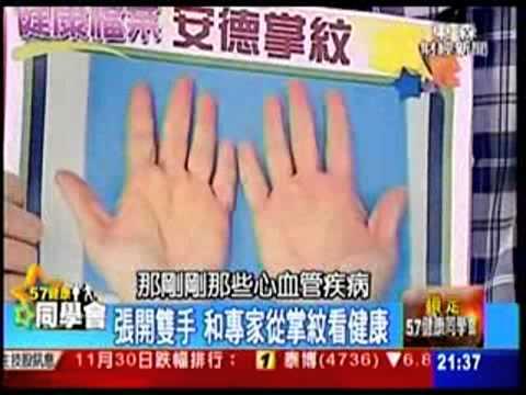 57健康同學會_掌紋看心血管疾病及保養方法【樓中亮中醫預防保健網】