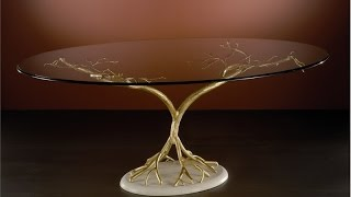 Очень красивые стеклянные столы - эксклюзивные произведения искусства