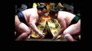 稀勢の里vs佐田の海 平成27年大相撲五月場所 Sumo kisenosato vs sadano...