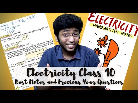 Electricity Notes for Class 10 Board Exam | Class 10 Science Chapter 12 Notes With PYQs