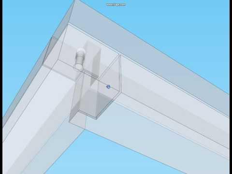 3Д Схема сборки дома из бруса угловое соединение