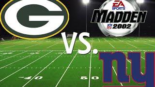 Madden NFL 2002: Season Game 2: Packers VS. Giants (XBOX)
