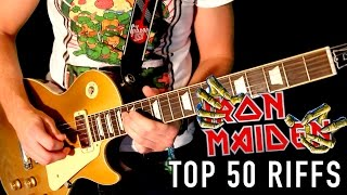 Top 50 Greatest Iron Maiden Riffs Medley #1