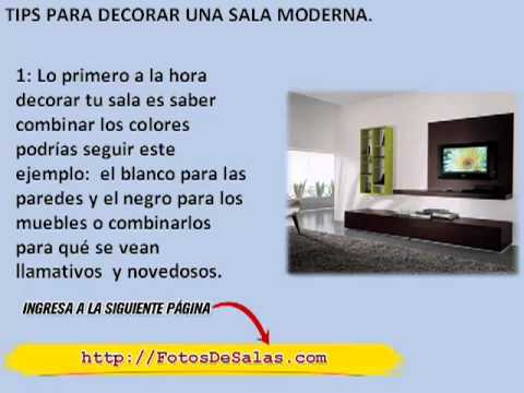 Como decorar una sala moderna youtube for Como decorar una sala moderna