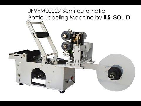 How Use JFVFM00029 Semi-automatic  Bottle Labeling Machine