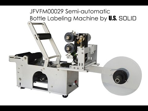 How Use JFVFM00029 Semi-automatic  Bottle Labeling Machine