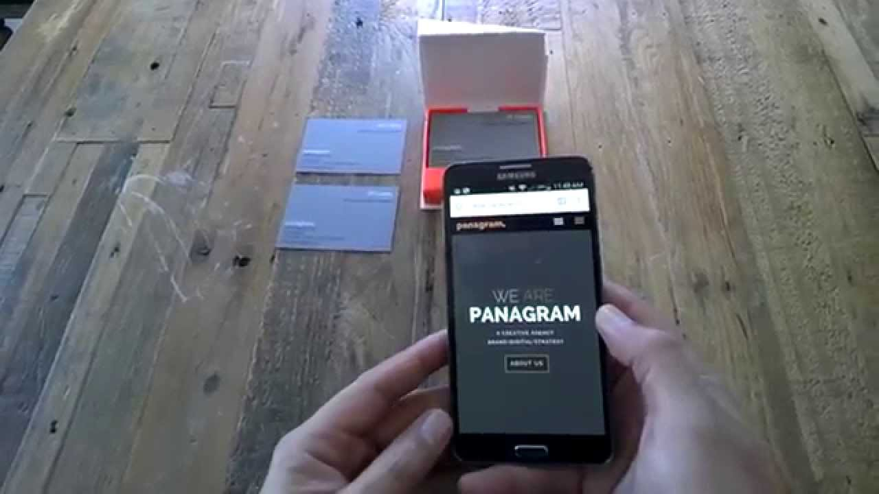 Nfc business cards from moo a quick peek youtube colourmoves