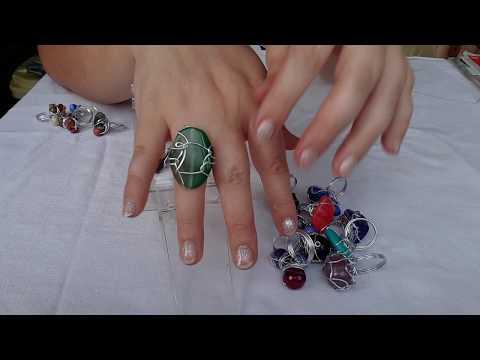 Авторские украшения кольца из натуральных камней от Ирины